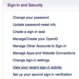How to stop hack in Yahoo Mail